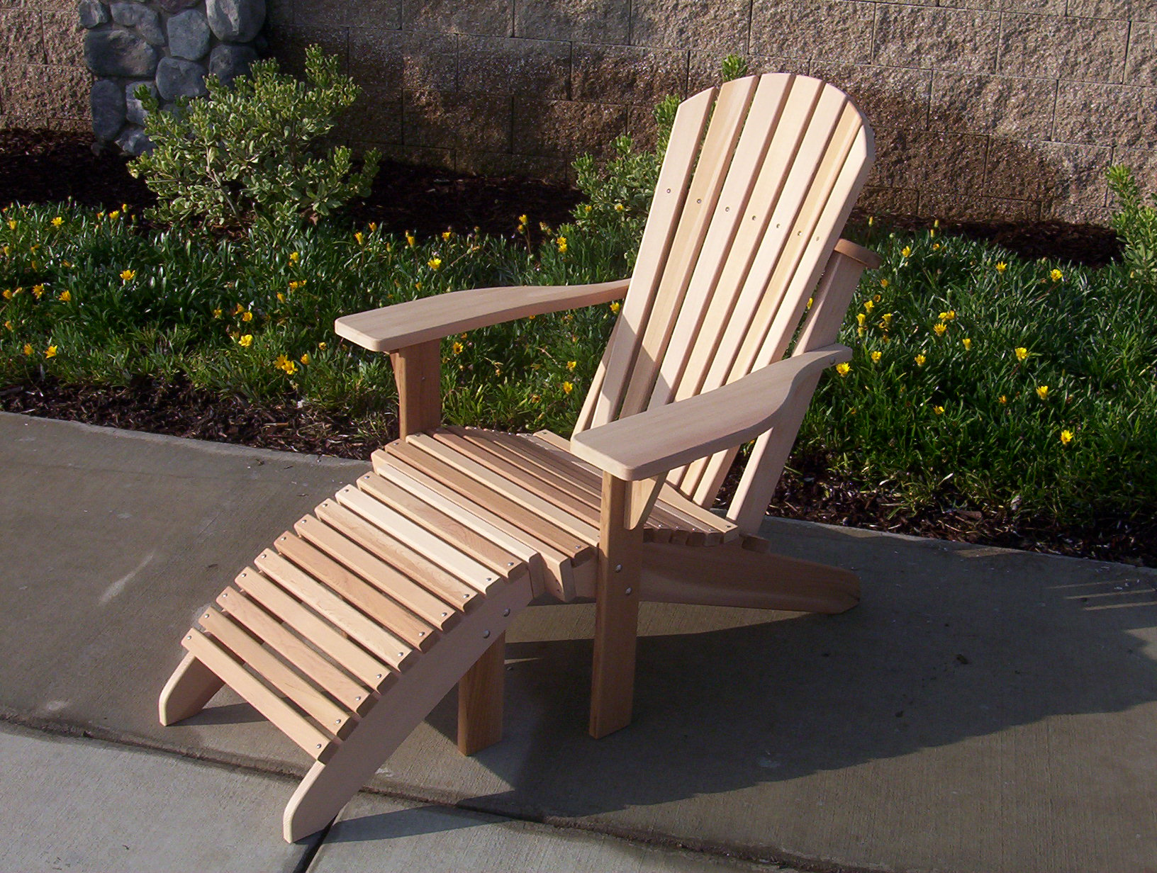 Genial Adirondack Chair With Footrest