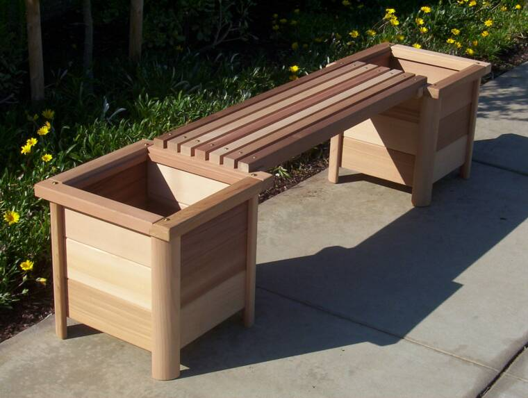 Garden Bench Planter Build A Storage Shed From Pallets Free Diy Woodworking Plans